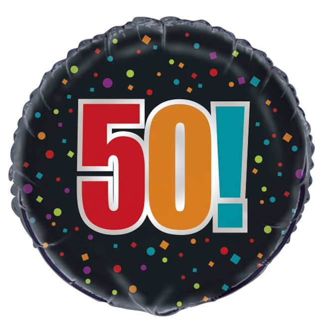 Foil Balloon 50th Birthday 45cm