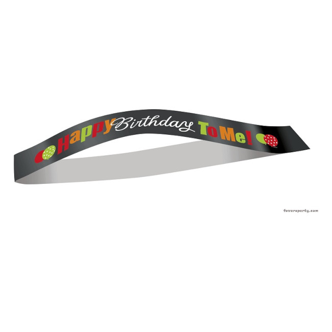 Birthday Satin Sash
