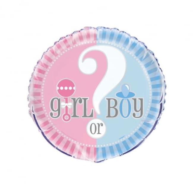 Gender Reveal Foil Balloon 45cm
