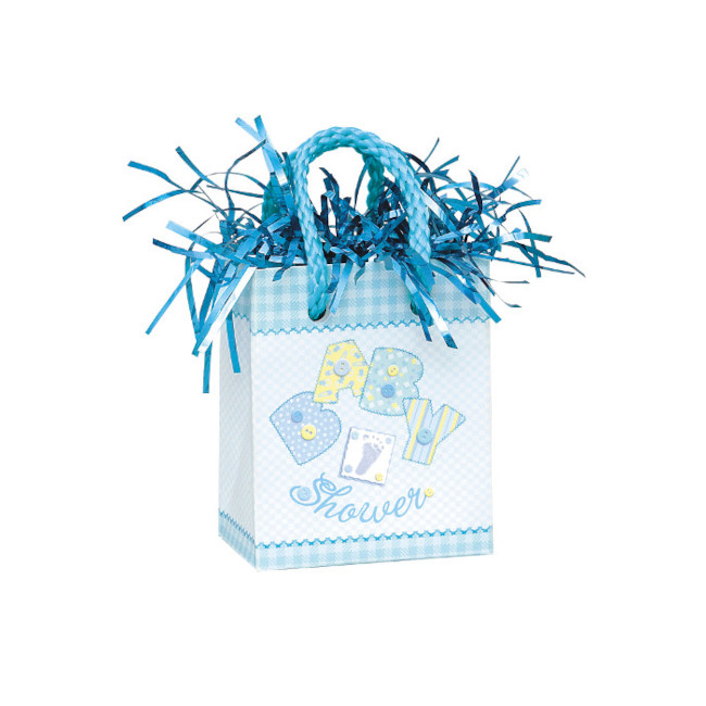 "Ballon Weight ""Baby Shower"" Gift Bag Baby Blue"