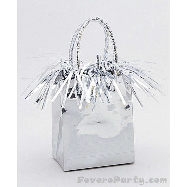 Balloon Weight Silver Gift Bag