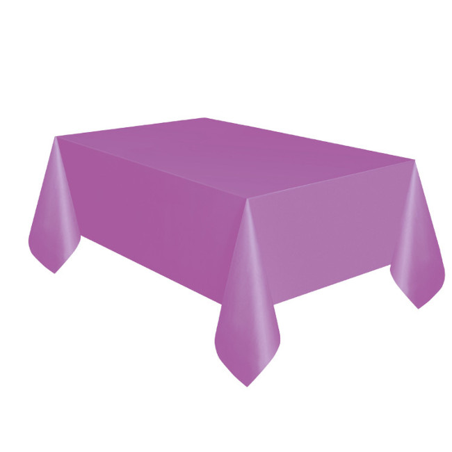 Purple Plastic Tablecover 134cmX274cm