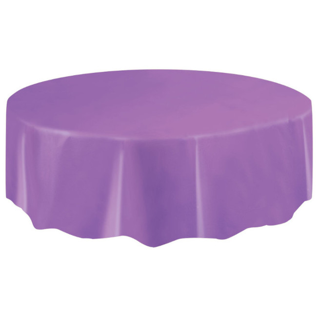 Purple Plastic Tablecover Round 213cm