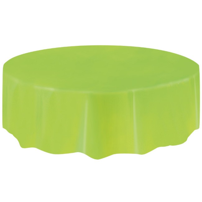 Lime Green Plastic Tablecover Round 213cm