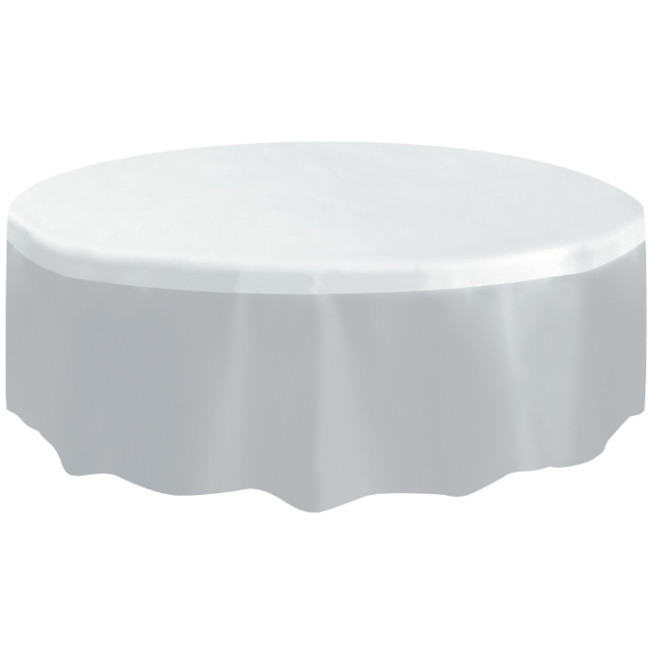 Clear Plastic Tablecover Round 213cm