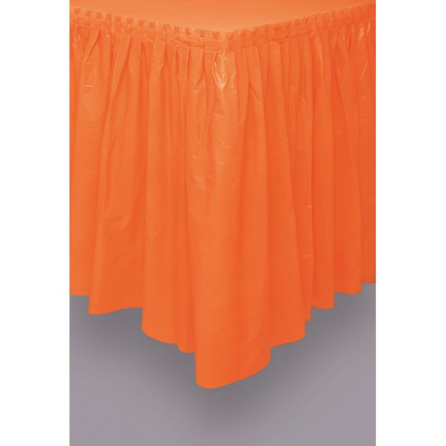 Orange Tableskirt 73cm X 426cm