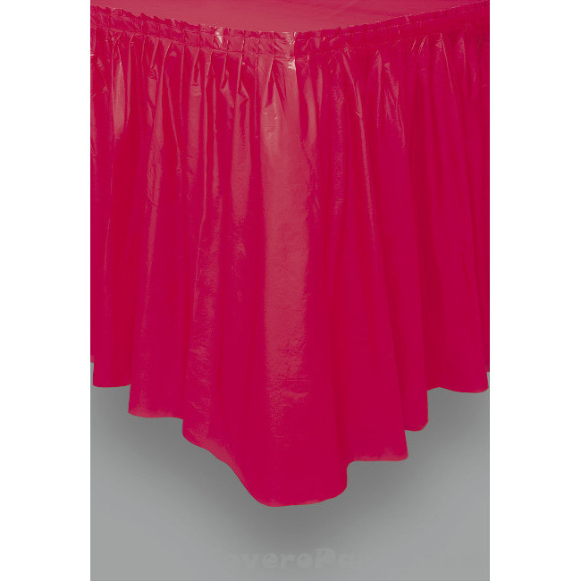 Red Tableskirt 73cm X 426cm