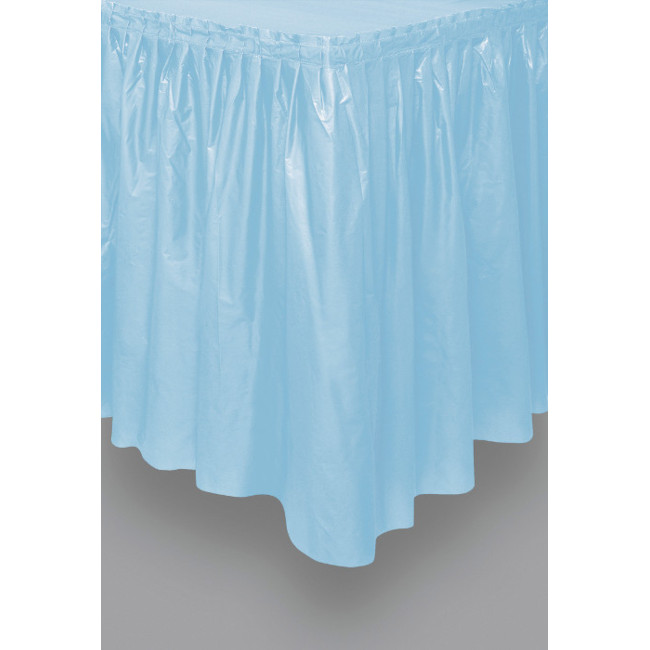 Light Blue Tableskirt 73cm X 426cm