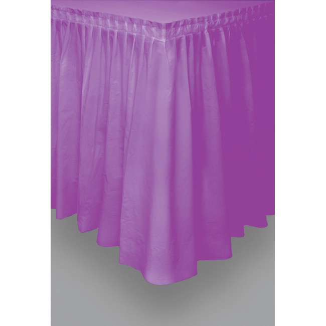 Purple Tableskirt 73cm X 426cm