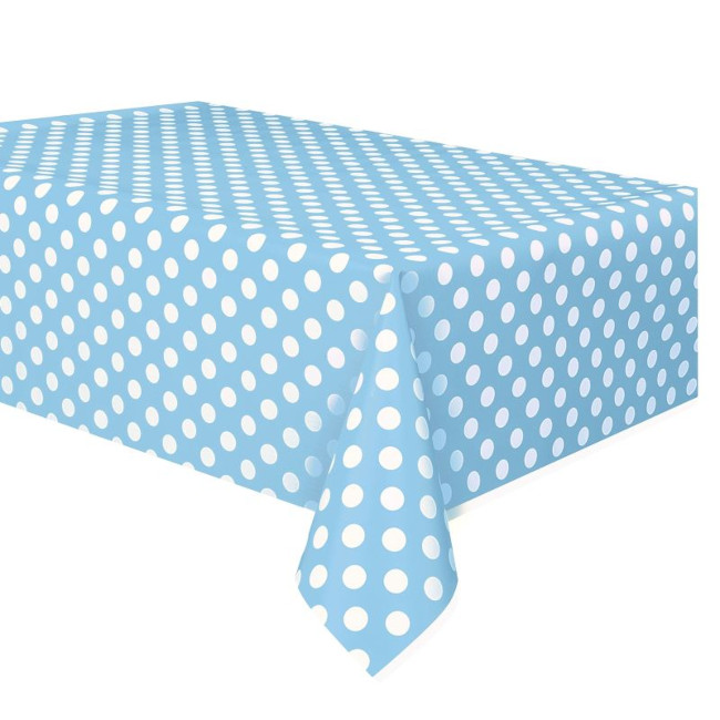 Light Blue Dots tablecover 134cmX274cm