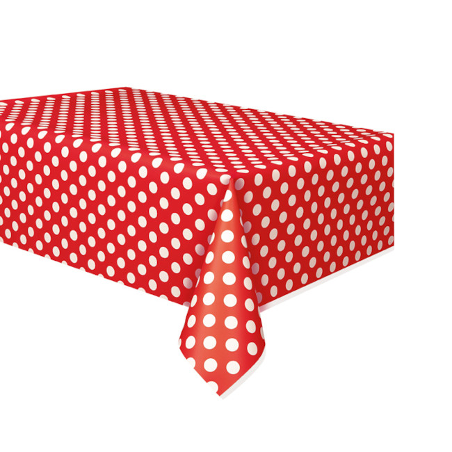 Red Dots tablecover 134cmX274cm