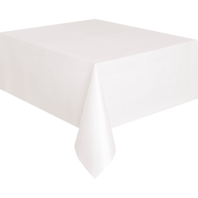 White Tablecover 134cmX274cm