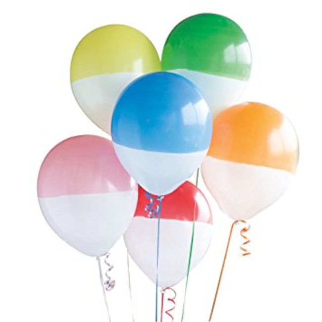 6 Balloons Two Tone assorted colours 30cm