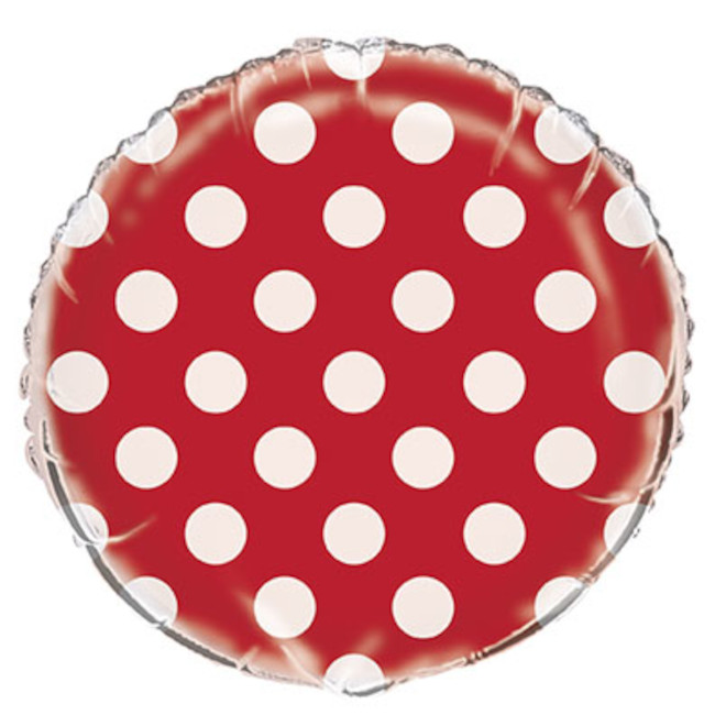 Foil Balloon Red Dots 45cm