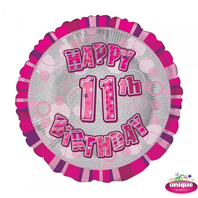 Foil Balloon 11 Prismatic Pink 45cm