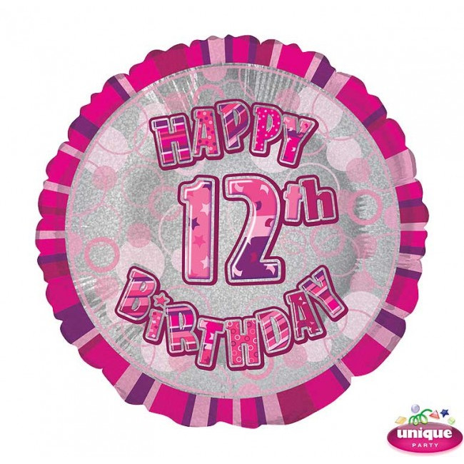 Foil Balloon 12 Prismatic Pink 45cm