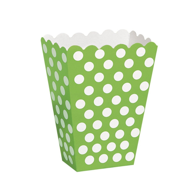 8 Lime Green dots treat boxes