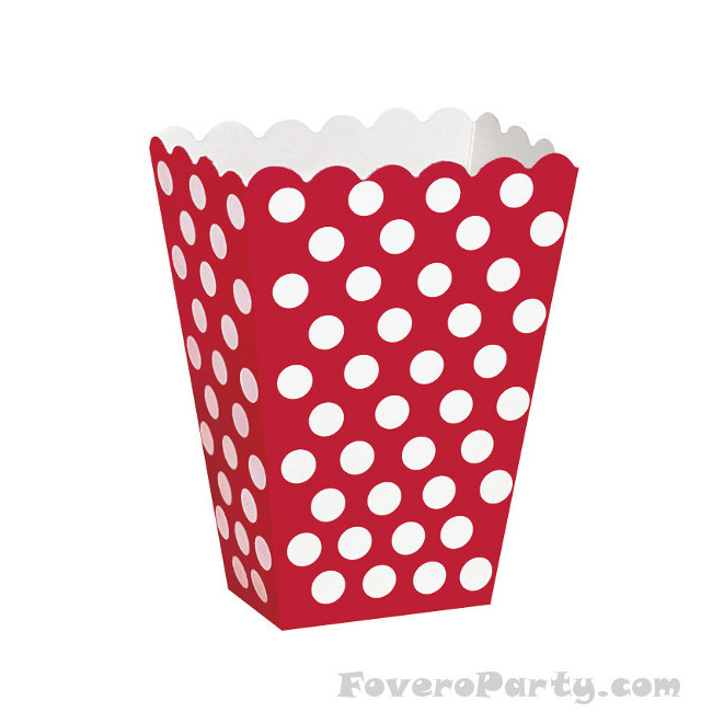 8 Red dots treat boxes