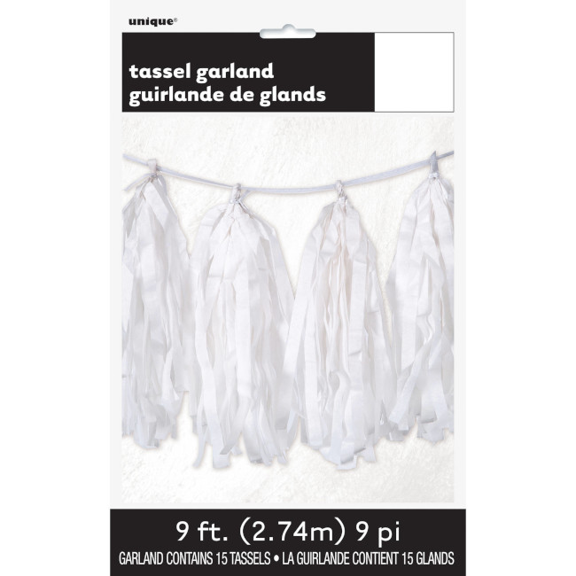 Tissue Garland White 2.74m