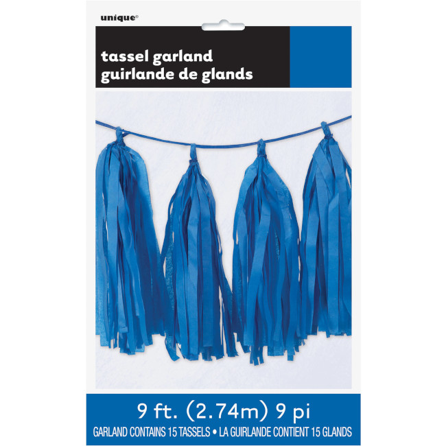 Tissue Garland Blue 2.74m