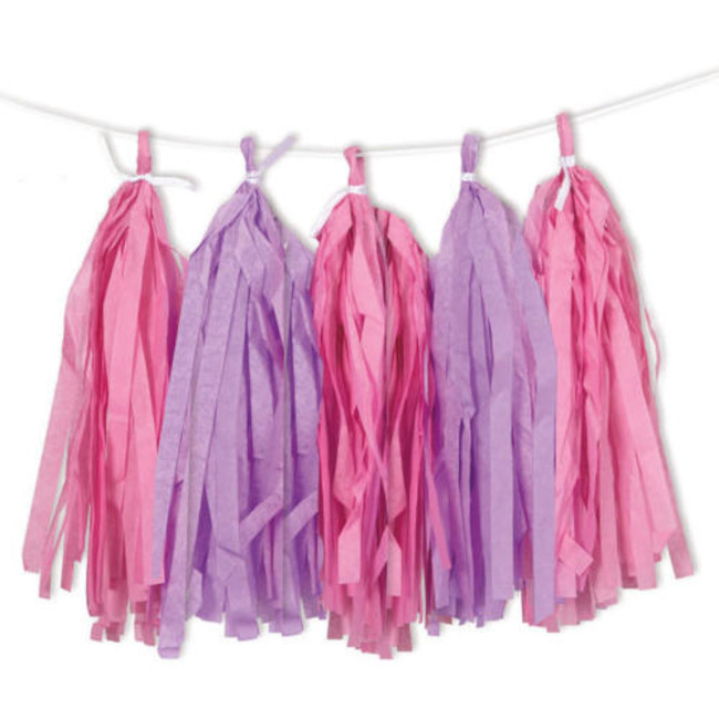 Tassel Garland Pink & Purple 2.74m