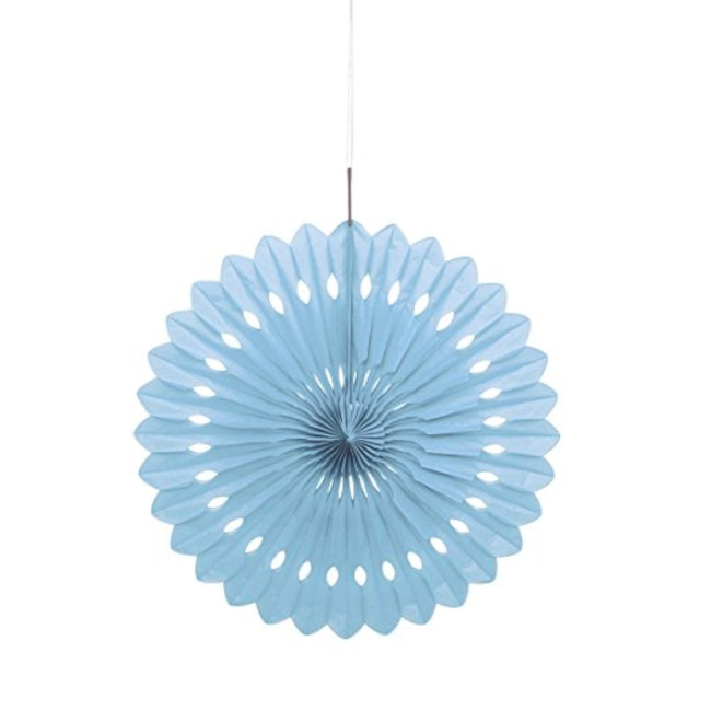Decorative Fan Light Blue 40cm