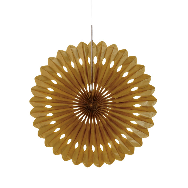 Decorative Fan Gold 40cm