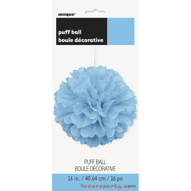 Puff Ball Light Blue 40cm