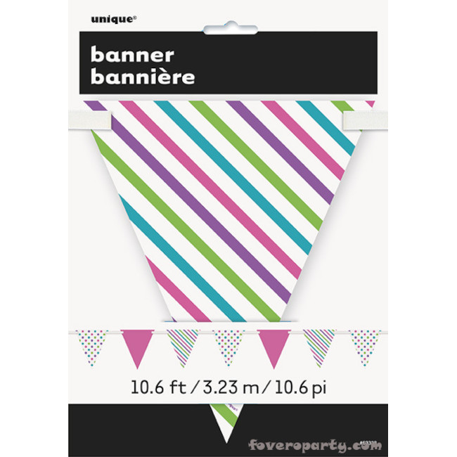 Paper Flag Banner Dots & Stripes 3.20m