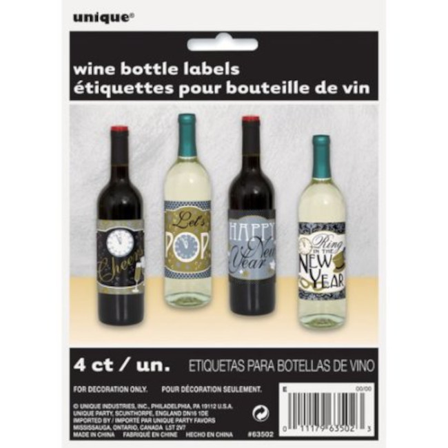 4 New Year Bottle Labels