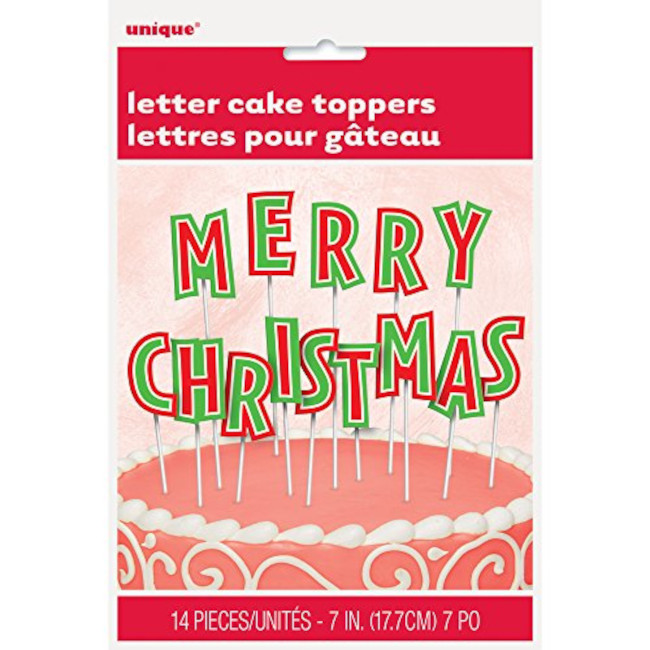 Merry Christmas Letter Decoration for cake