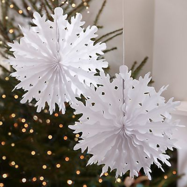 Snowball Hanging Decoration 30cm (1pc)