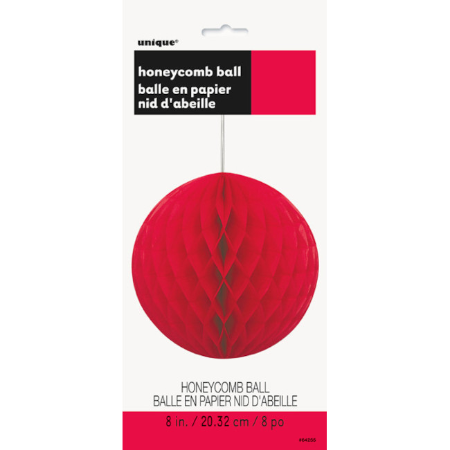 Honeycomb Ball Red 20.3cm