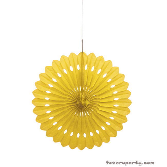 Decorative Fan Yellow 40cm
