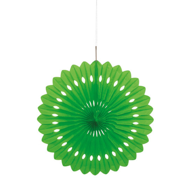 Decorative Fan Lime Green 40cm