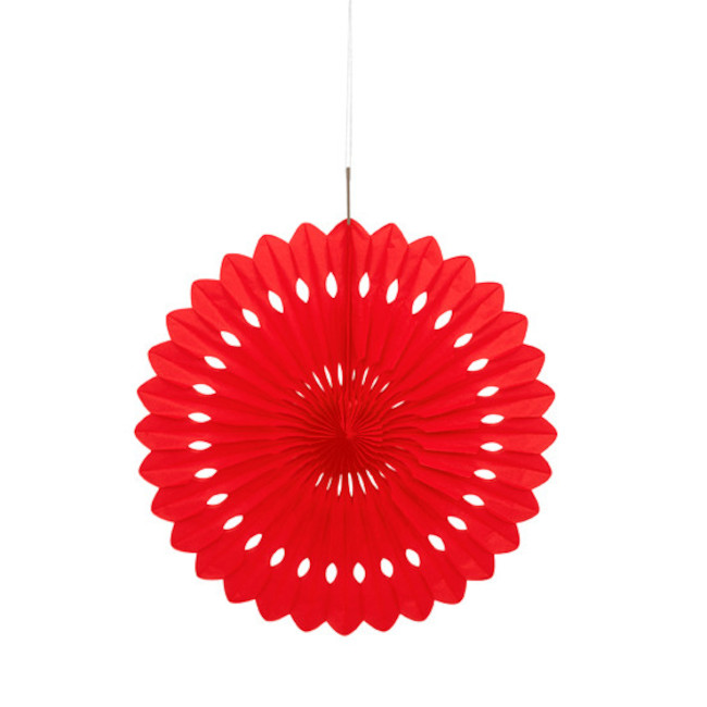 Decorative Fan Red 40cm