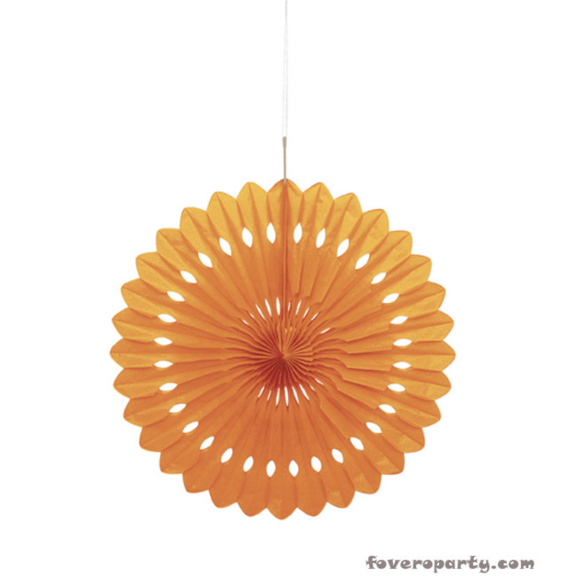 Decorative Fan Orange 40cm