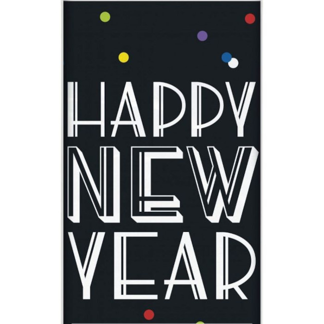Plastic Tablecover New Year Dots 137x213cm