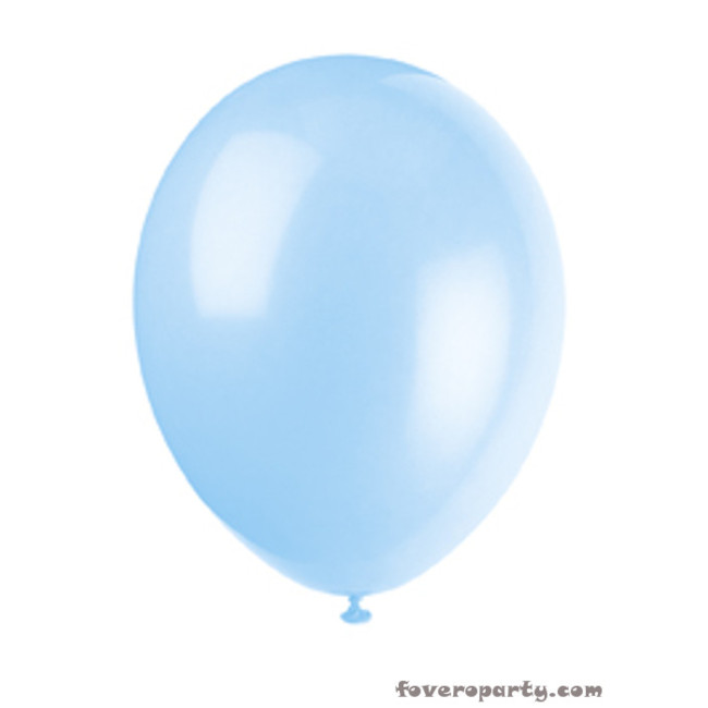 10 Balloons Light Blue 30cm