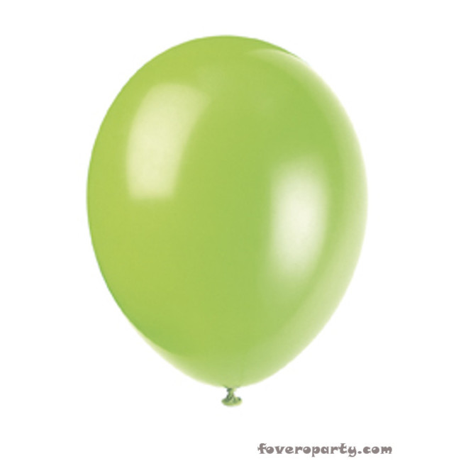 10 Balloons Lime Green 30cm