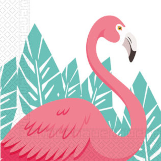 20 Napkins Flamingo Decorata 33 x 33cm
