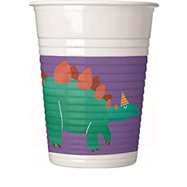 8 Paper Cups Dino Roar 200ml