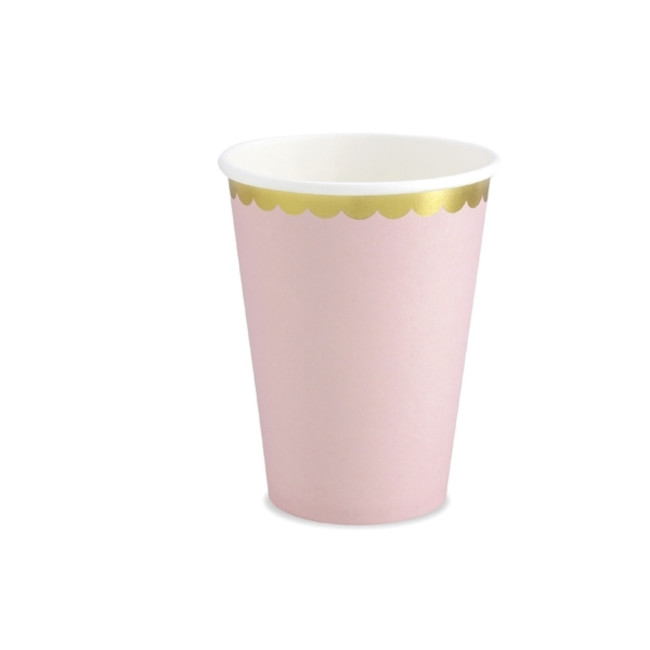 6 Paper Cups Pink 220ml