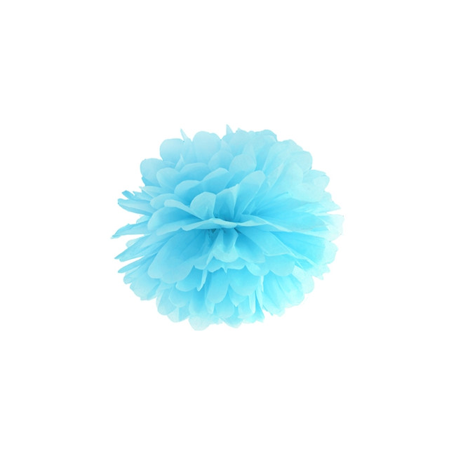 1 Decorative Puff Ball Sky Blue 25cm
