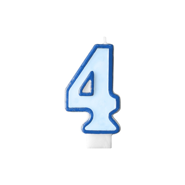 Numeral Candle 4 Blue
