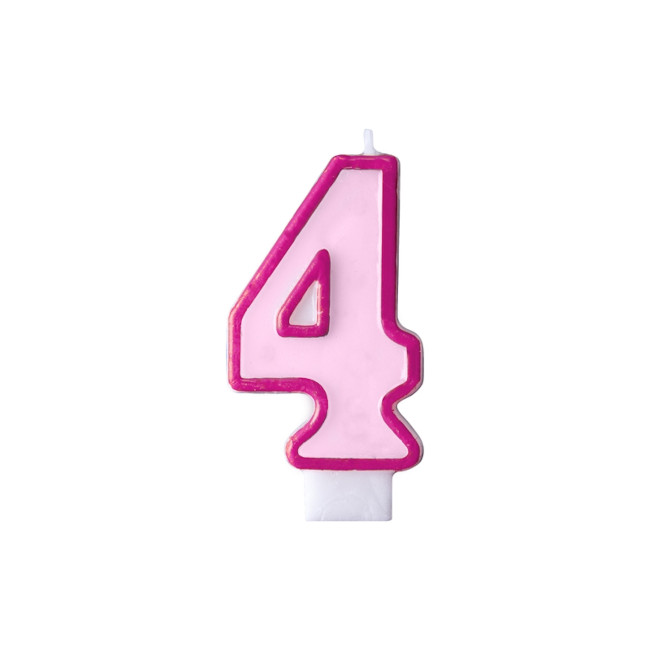 Numeral Candle 4 Pink