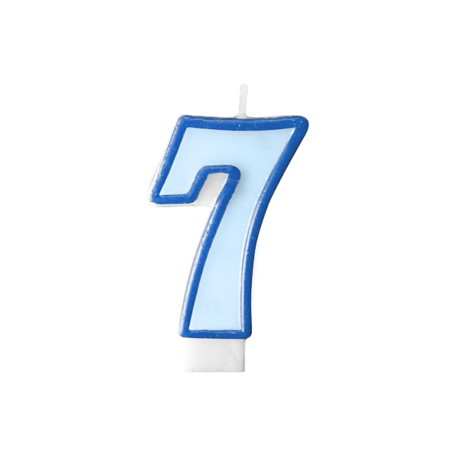 Numeral Candle 7 Blue