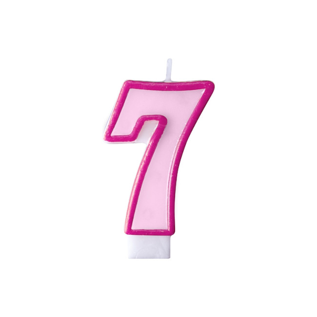 Numeral Candle 7 Pink