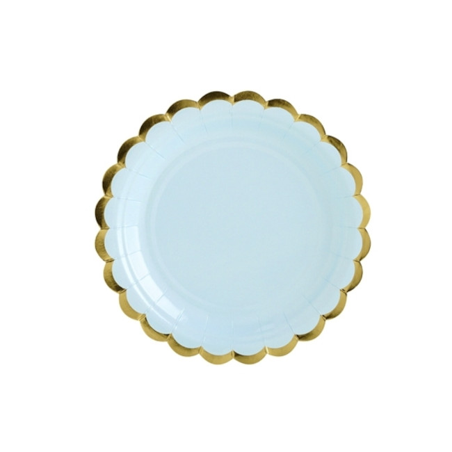 6 Paper Plates Light Blue 18cm