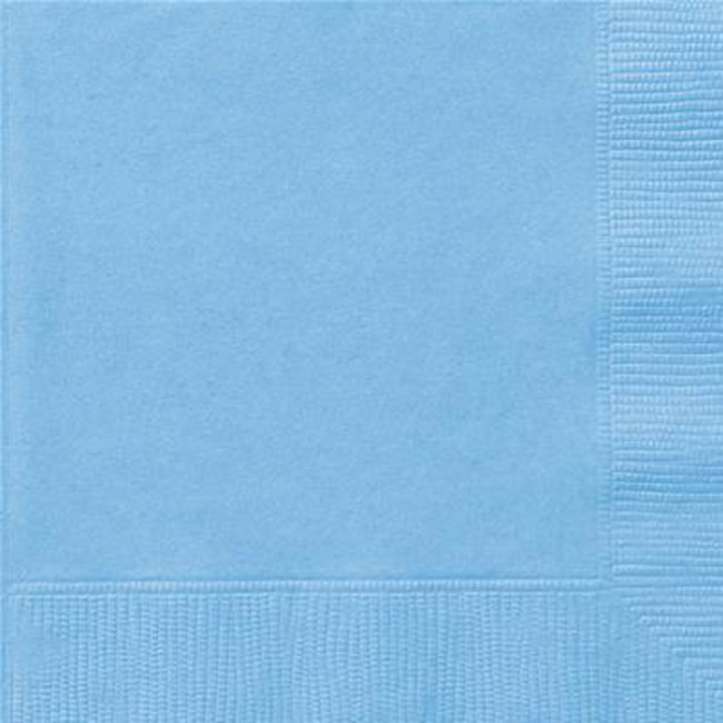 20 Napkins Light Blue 25X25cm